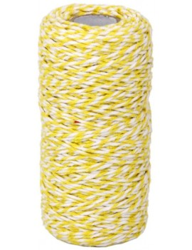Yellow and White Cotton Twine