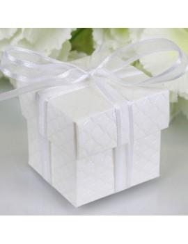 Off White Square Favour Box
