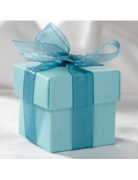 Turquoise Square Favour Box