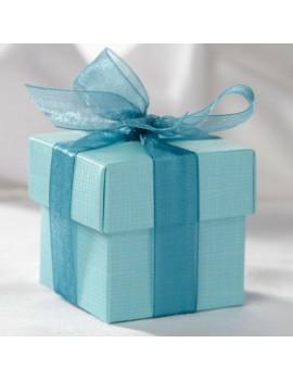 Turquoise Square Favour Box
