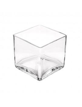 Glass Cube 10cm Vase