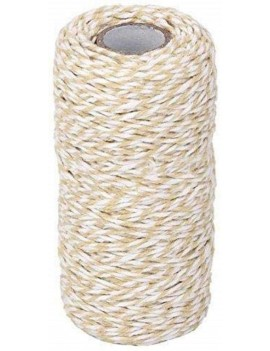 Beige and White Cotton Twine