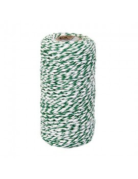 Green and White Cotton Twine