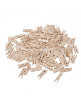 Mini Natural Wooden Pegs