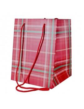 Tartan Hand Tie Bag (19x25cm)