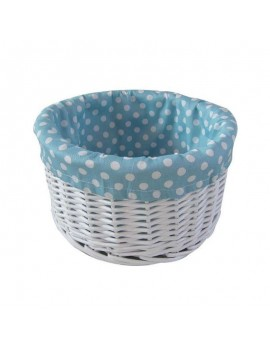 Painted wicker basket with...