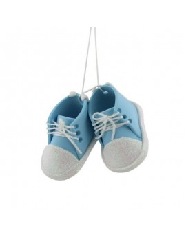 Baby Blue Bootees Ornament